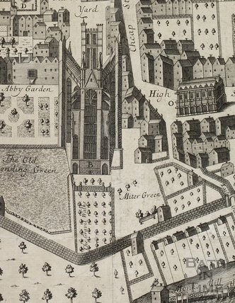 Joseph Gilmore Map of the City of Bath 1694-1717 - detail
