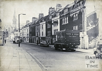 Widcombe Parade, Widcombe, Bath looking east 1965