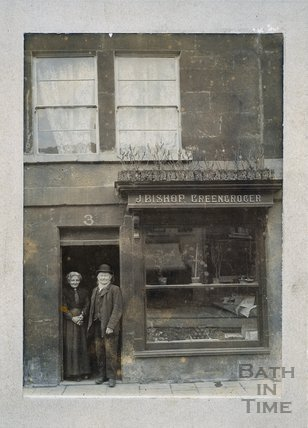 J. Bishop, Greengrocer. 3, Widcombe Parade, Bath c.1900