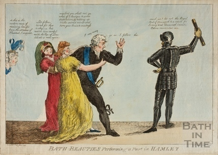 Bath Beauties Performing a Part in Hamlet 1799