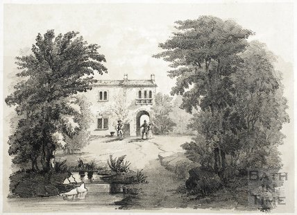 Italian Cottage in Garden 1844