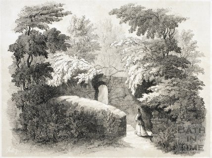 View in garden where the Sarcophagus stood before removal 1844