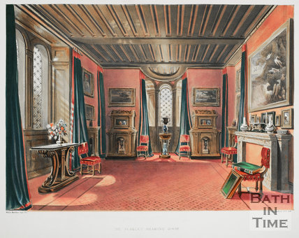 The Scarlet Drawing Room at Beckford's Tower, Bath, 1844