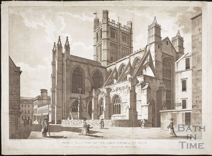 North East View of the Abbey Church at Bath 1784
