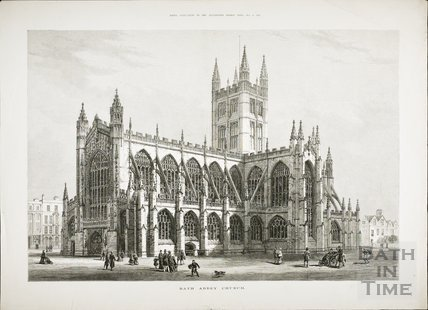 Bath Abbey Church 1878