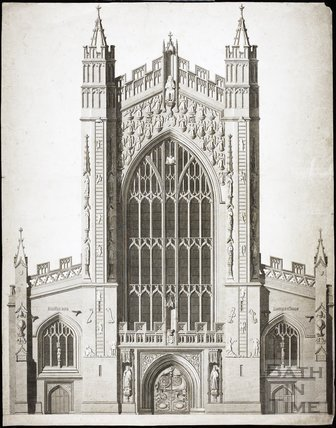 Elevation of the West Front of the Abbey 1798