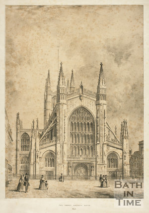 The Abbey Church Bath, West c.1840