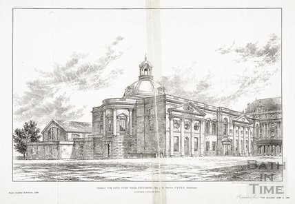 Design for the Royal Academy Exhibition for the Pump Room Extension, Bath 1894