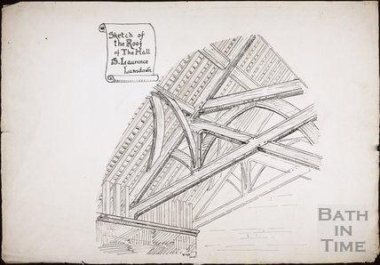 Sketch of the roof of the hall. St. Laurence (sic), Lansdown, Bath 1895