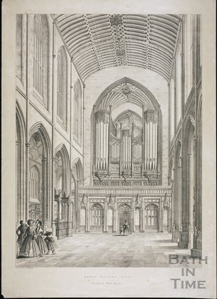 Abbey Church, Bath. View from the Western Entrance c.1836