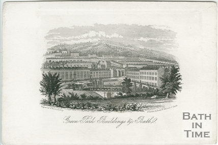 Green Park Buildings, Bath c.1845