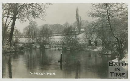 Warleigh Weirs in winter c.1907