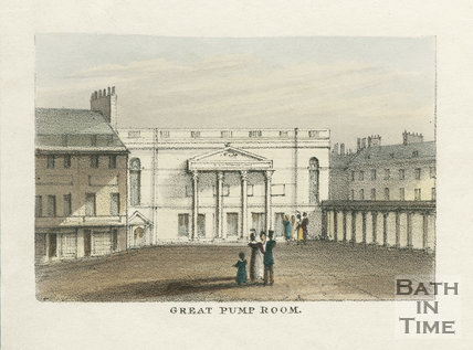 Great Pump Room, Bath c.1827