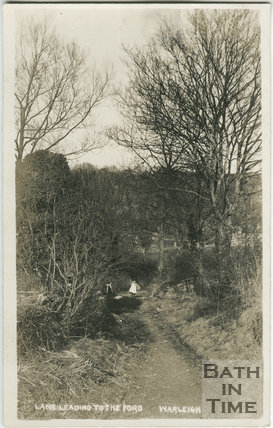 Lane Leading to the Ford, Warleigh c.1912
