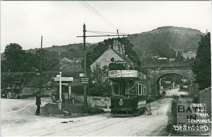 Bus and Tram Terminus, Bathford c.1905