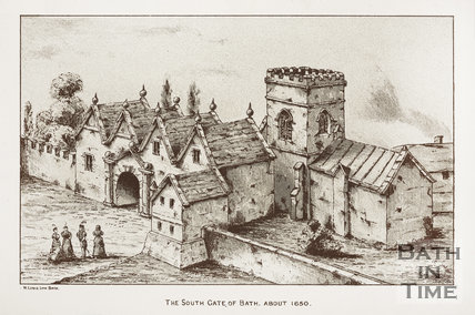 The South Gate of Bath. About 1650