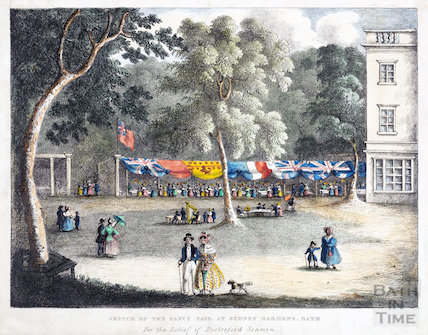 Sketch of the Fancy Fair at Sydney Gardens, Bath c.1840