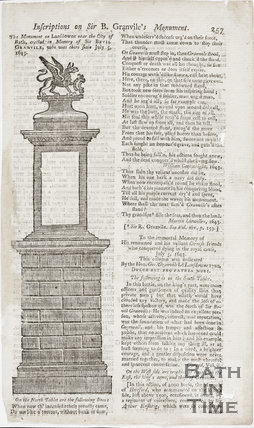 Inscriptions on Sir B. Granvile's Monument