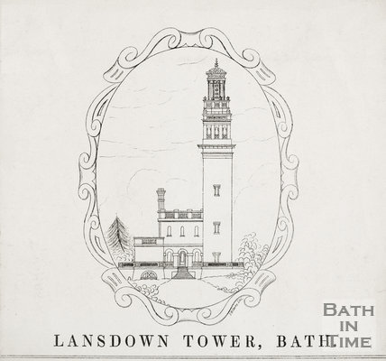 Lansdown Tower c.1845
