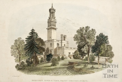 Beckfords Tower & Tomb, Walcot Cemetery, Nr. Bath c.1850
