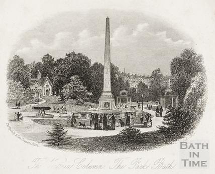 The Victoria Column. The Park, Bath c.1858