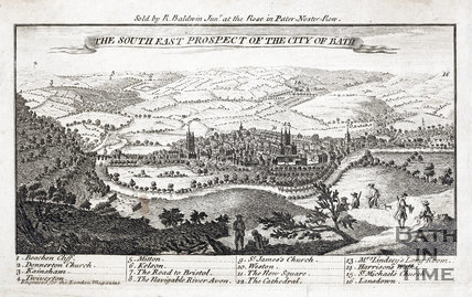 The South East Prospect of Bath, 1749