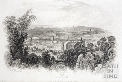Bath, from the vicinity of Prior Park 1850