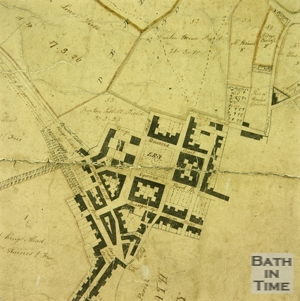 A Plan of the Parish of Walcot 1740 - detail