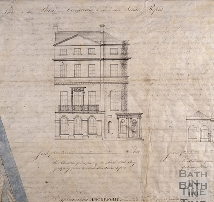 Building Lease for the first house in New Sydney Place - Front Elevation 1808 - detail