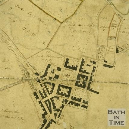 Plan of the Parish of Walcot 1740 - detail
