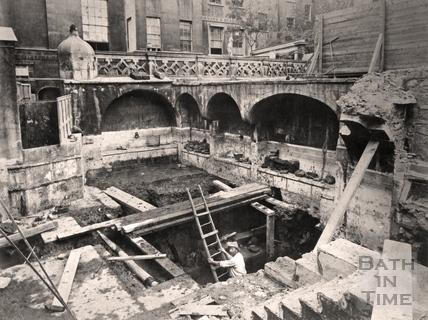 Emerging from below the Queens Bath 1878