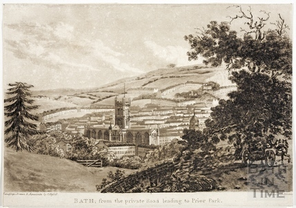 Bath, from the private Road leading to Prior Park. 1793