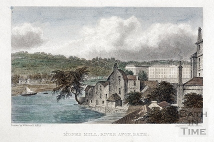 Monks Mill, River Avon, Bath 1830