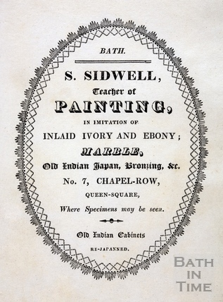 S. Sidwell, teacher of Painting, 7 Chapel Row 1819