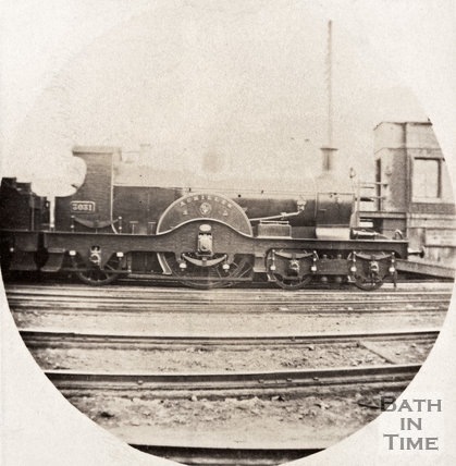 Great Western engine at Manvers Street c.1893