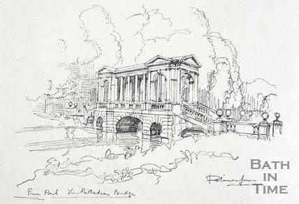 Prior Park, the Palladian Bridge 1927