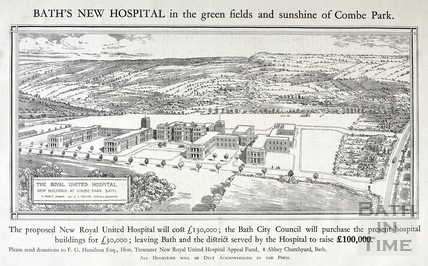Baths New Hospital, in the green fields and sunshine of Combe Park