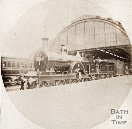 Midland engine at Queen Square c.1893
