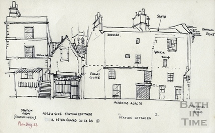 Station View, 1, 2 Station Cottages, Claverton Street, Bath 20 December 1963