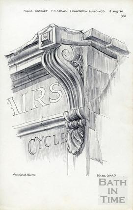 7 Claverton Buildings, Bath 13 August 1970