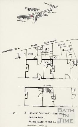 3 Jones' Buildings, Gay's Hill 16-Feb-1964