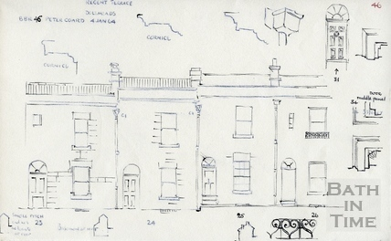 23, 24, 25, 26 Regent Terrace, Dolemeads, Bath 4 January 1964
