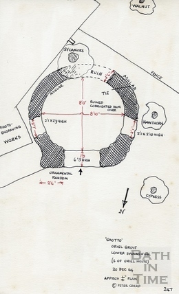 Grotto, Oriel Grove, Lower Swainswick, Bath (S of Oriel House): approx. plan 20 December 1964