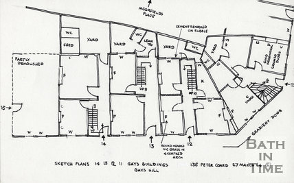 14, 13, 12, 11 Gay's Buildings, Gay's Hill 27-Mar-1964