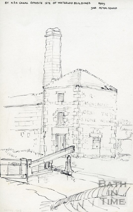 Old engine house by the Kennet and Avon Canal, Bath 1969