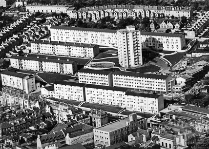 c.1960s Aerial view of Snow Hill flats, Bath