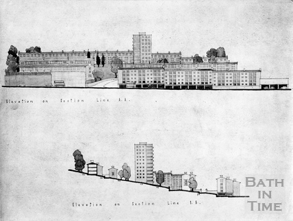 Elevations of the Snow Hill development c.1956