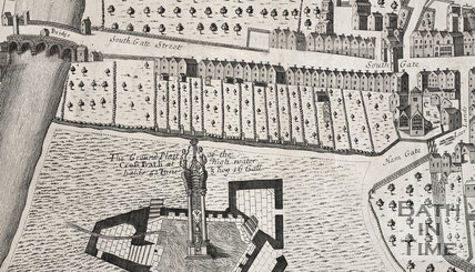 Southgate Street and bum ditch 1717 - detail