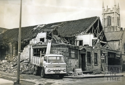 The Georgian Riding School being demolished c.1973