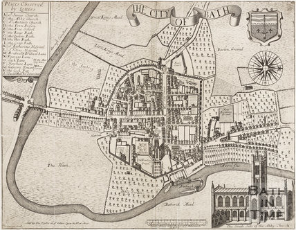 Map of the City of Bath c.1715